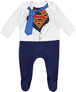 DC Comics Baby Boys' Superman Footies
