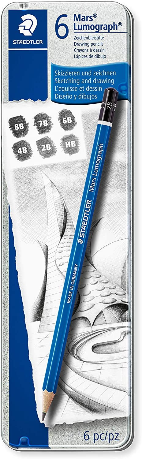 Staedtler Wholesale Lumograph Graphite Drawing and Topics on TV Sketching Pencils 100G6