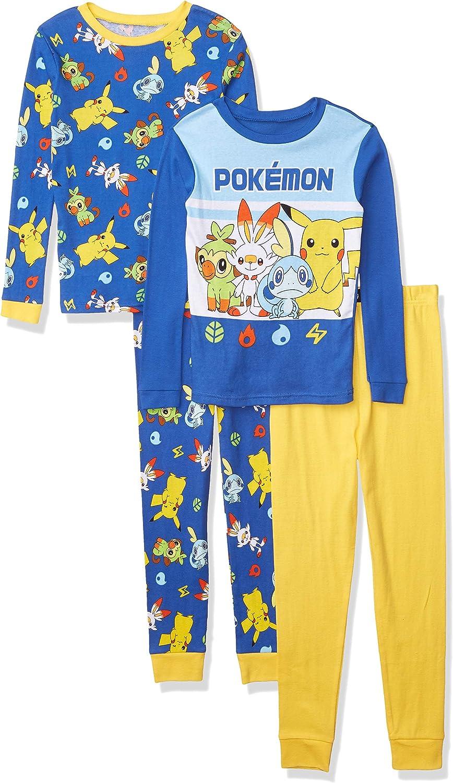 Pokemon Boys' Snug Fit Cotton Pajamas
