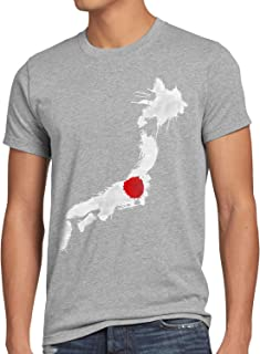 CottonCloud Flagge Japan Herren T-Shirt Fußball Sport Nihon