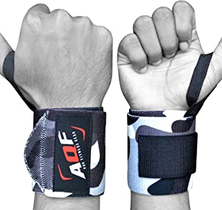 AQF Power Weight Lifting Wraps Ondersteunt Gym Training Fist Straps - Verkocht Als Pair & One Size Fits All