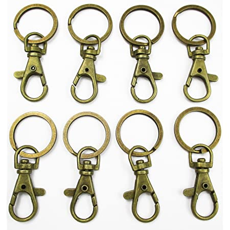 5//10 Metal Lobster Claw Clasps Swivel Lanyards Trigger Hooks for Keychain Bag US