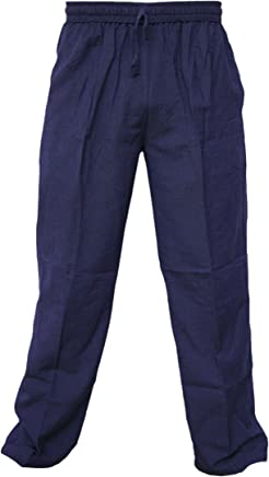 Little Kathmandu Pantalones de chándal para hombre, cáñamo de algodón