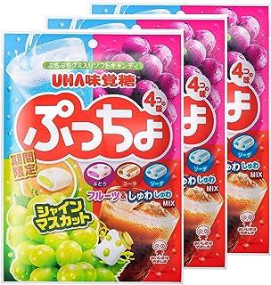 味覚糖   ぷっちょ袋 4種アソート  98G×3個