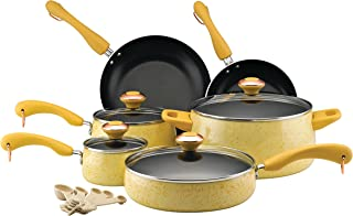 Paula Deen 12514 Signature Nonstick Cookware Pots and Pans Set, 15 Piece, Butter Speckle