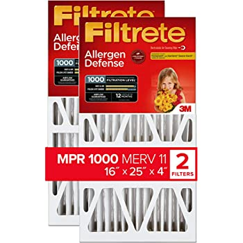 Made in USA 25/% Capture Efficiency 48 Pack 16 High x 25 Wide x 1 Deep Polyester Air Filter Media Pad