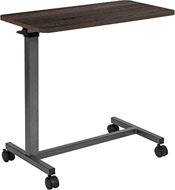 Flash Furniture Adjustable Overbed Table with Wheels for Home and Hospital