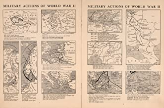 Map Poster - Military Action of World War II - 24