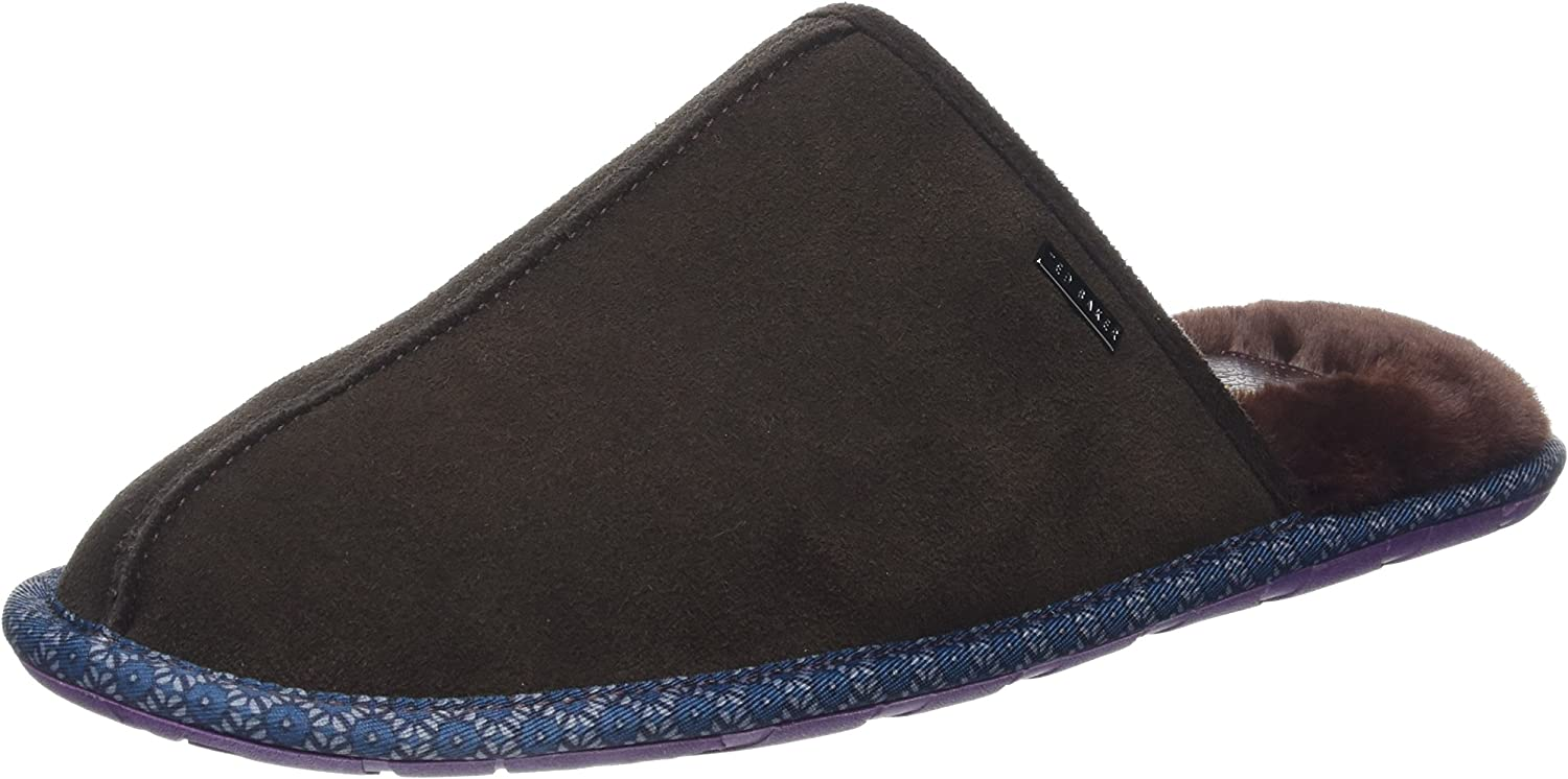 Ted Baker Mens Brown Suede Youngi 2 Slippers