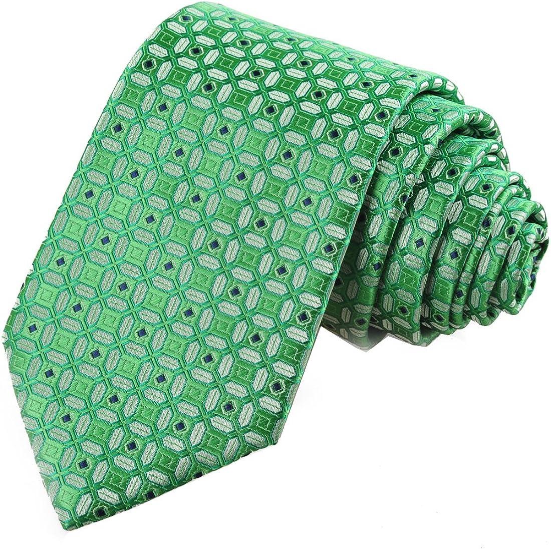 KissTies Mens Necktie Tartan Checkered Ties For Men