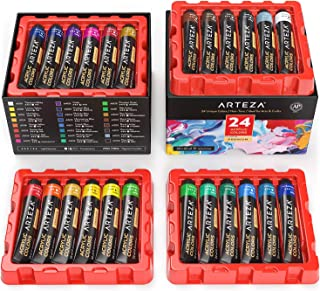 Arteza Acrylic Paint Set, 24 Colors/Tubes (22 ML/0.74 oz.) w