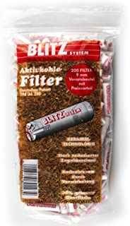 200 pcs BLITZ System Smoking pipe FILTERS made in Switzerland - 9mm