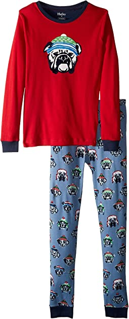 Cozy Pups Organic Cotton Applique Pajama Set (Toddler/Little Kids/Big Kids)
