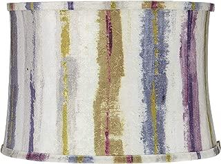 Purple Crackle Stripes Drum Lamp Shade 15x16x11 (Spider) - Springcrest