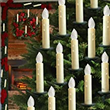 LED Christmas Flameless Candle Lights Wireless Remote Control LED Candles Christmas Tree Taper Candles Lights White Lights...
