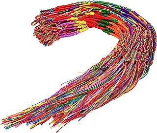 Resinta 60 Pieces Handmade Braided Bracelets Assorted Random Colors Friendship Cords Thread Bracelets Party Supply Favors ...