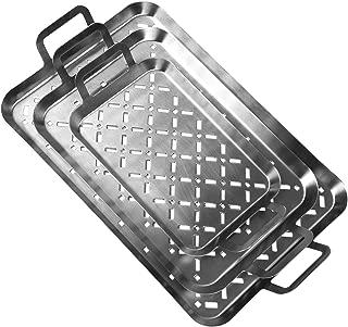 Set Vassoi Grigliati per Barbecue Allaperto in Alluminio Monouso P Prettyia 40pcs
