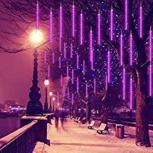 Meteor LED-doucheverlichting voor regenval, 30cm 8 buizen ijspegel, sneeuw, sneeuwval, watervalverlichting, kerstverlichti...