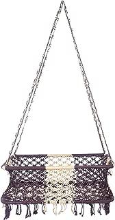 A&E Soft net baby cradle swing palna jhula, Brown/White