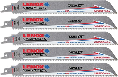"high quality Lenox 2014225 9"" 8TPI LAZER Ct popular 9108RCT Reciprocating Saw high quality Blade, 5PK online sale"