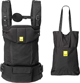 LÍLLÉbaby Serenity All Seasons SIX-Position Ergonomic Baby & Child Carrier with Convertible Tote, Black – Cotton