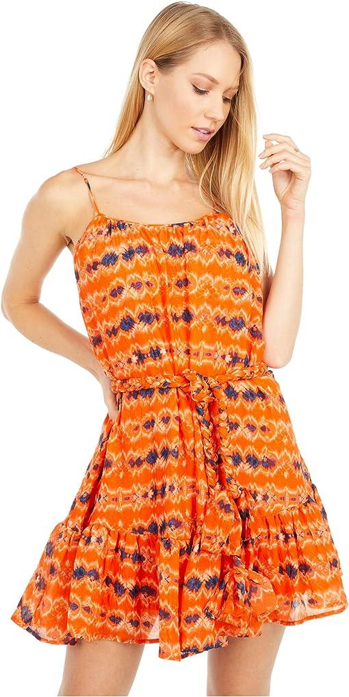 Orange Batik Print