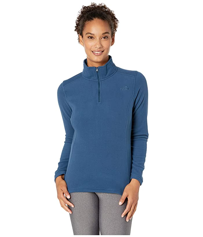 The North Face Glacier 1/4 Zip Fleece Top (Blue Wing Teal) Women