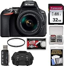 Nikon D5600 Digital SLR Camera & 18-55mm VR DX AF-P Lens with 32GB Card + Case Kit (Renewed)
