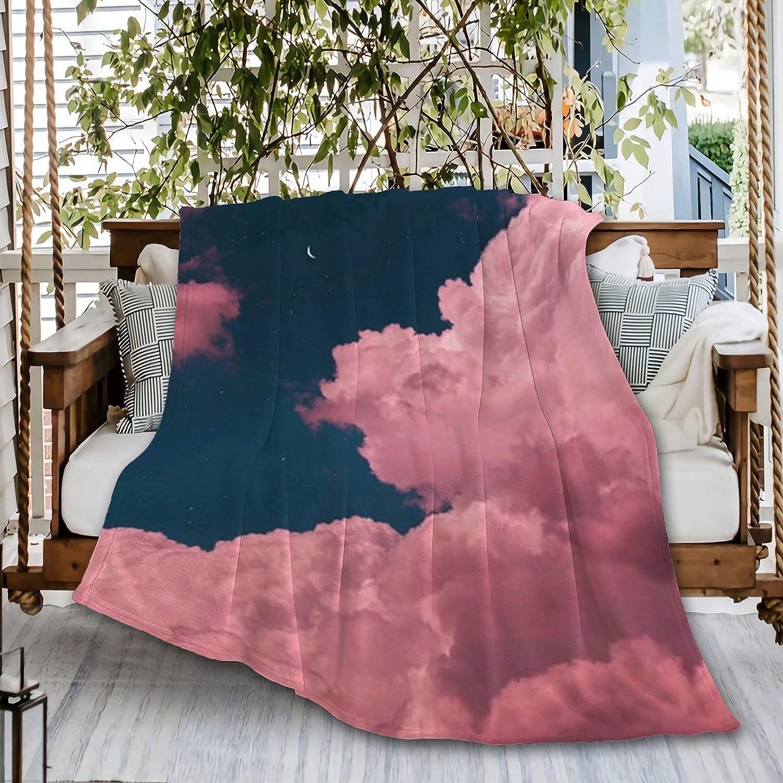 Inexpensive Naiagiri Pink Dream Sky Window price Throw Flannel Blanket Sofa Super