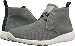 Grey Perforated Suede