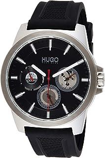 Hugo Boss Men's Black Dial Black Silicone Watch - 1530129