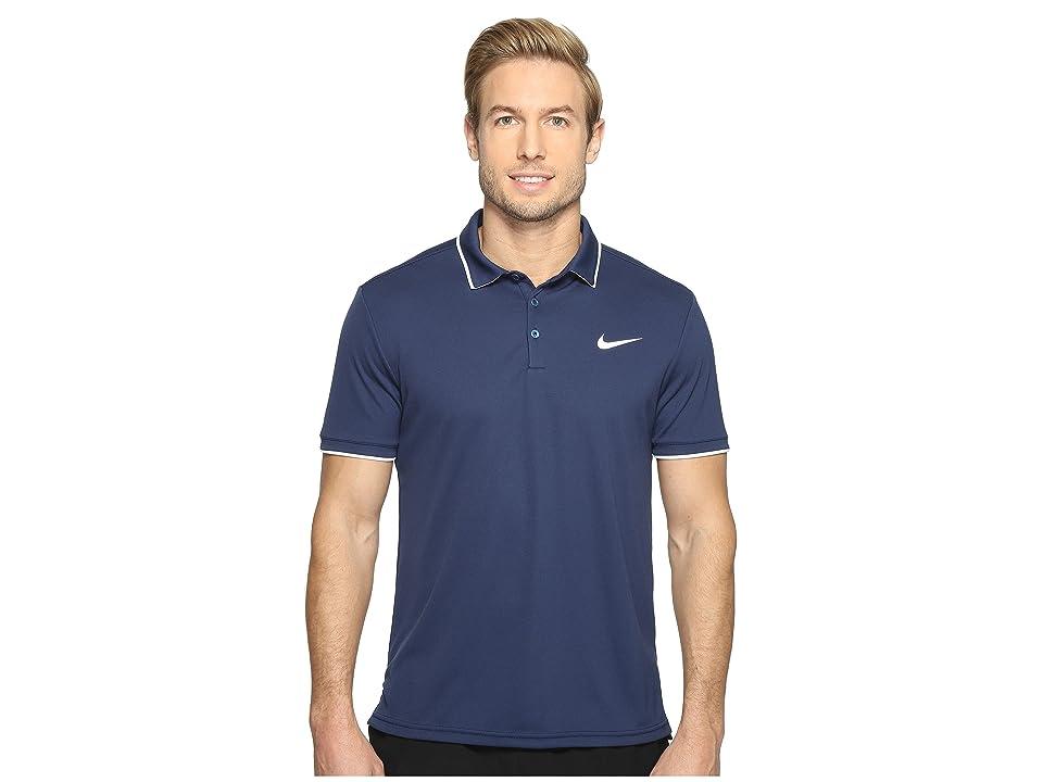 Nike Court Dry Tennis Polo (Midnight Navy/White/Midnight Navy/White) Men