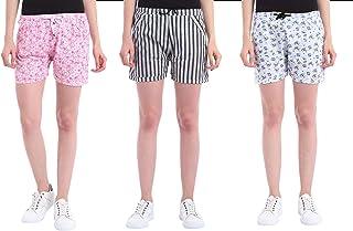 Shararat Women's Printed Cotton Shorts | Printed Cotton Shorts for Women