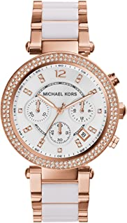 Michael Kors Parker Women's White Dial Stainless Steel Analog Watch - MK5774