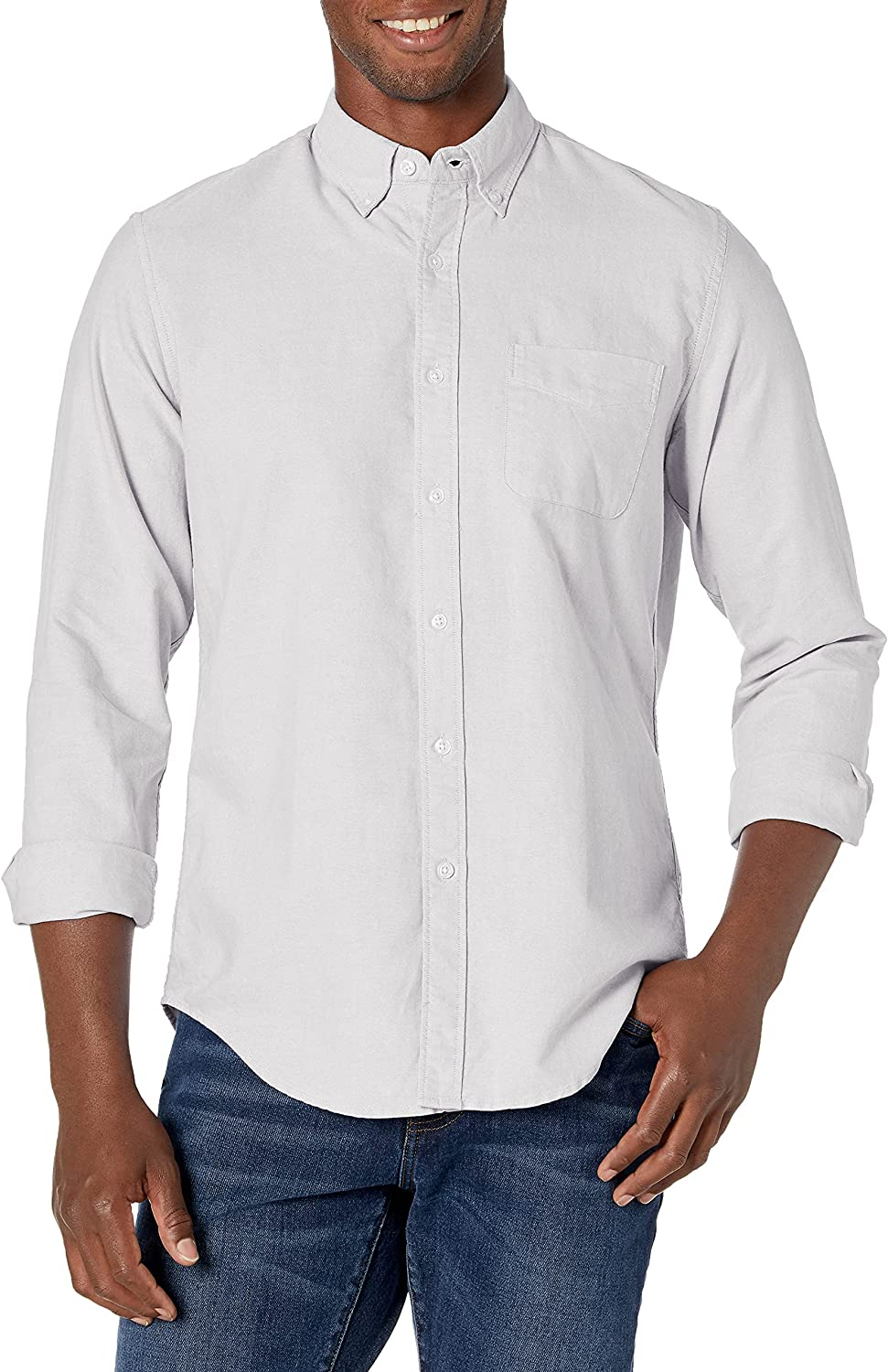 J.Crew Mercantile Men's Classic-fit Long-Sleeve Stretch Solid Oxford Shirt