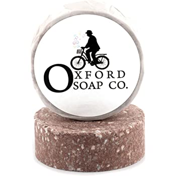 Oxford Soap Co. Sandalwood Shampoo Bar 50g. Zero Plastics & sulphate free with natural ingredients for hair growth and dandruff. Coconut oil and plant keratin. 100% Vegan