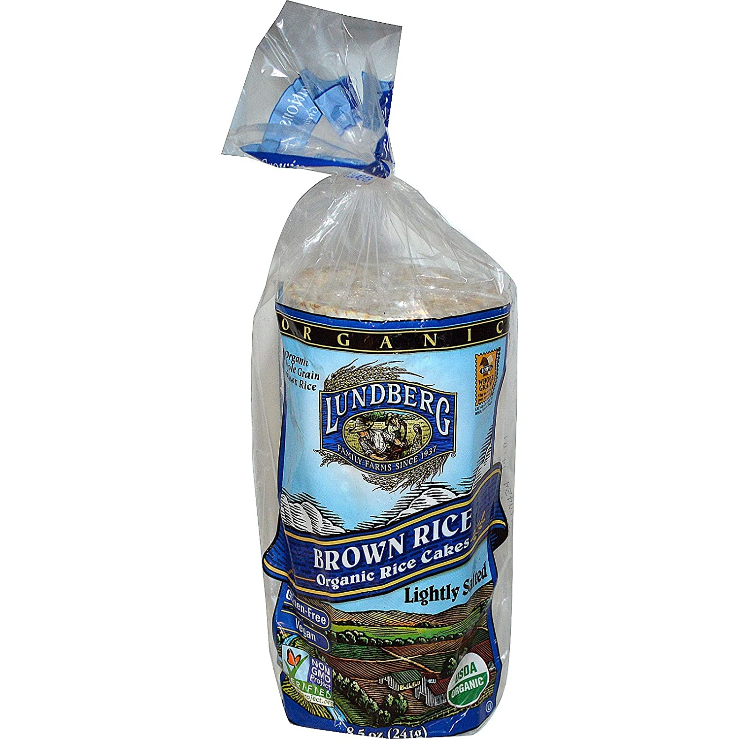 Lundberg Brown low-pricing Rice Organic Cakes Salted Cheap mail order sales oz 8.5 Lightly