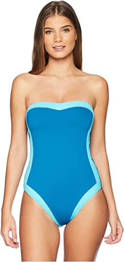 Modern Muse Bandeau Mio One-Piece Swimsuit