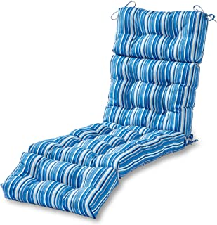 Greendale Home Fashions 72-inch Outdoor Chaise Lounge Cushion, Sapphire