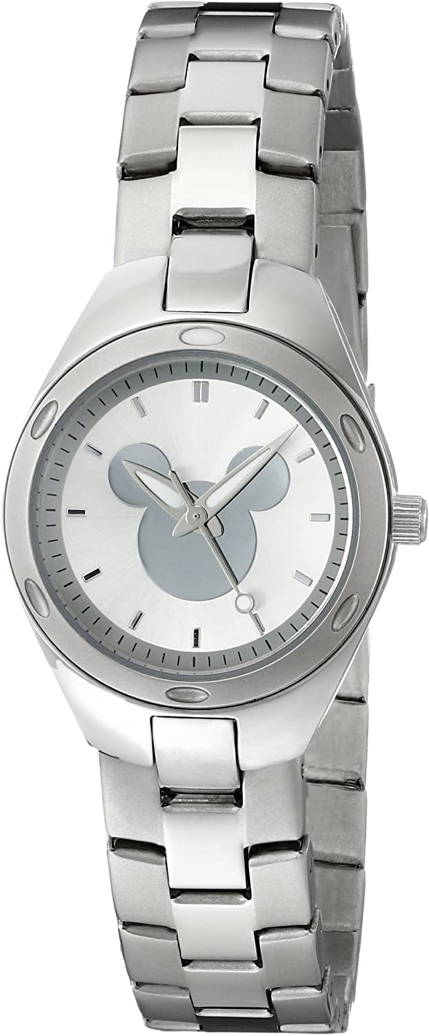 Super special latest price Disney Women's W001908 Mickey Silver-Tone Mouse Watch