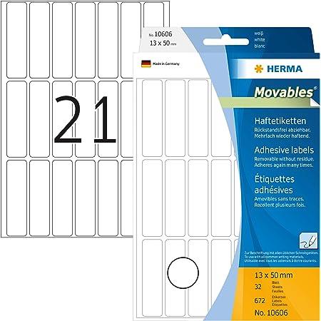 HERMA Vielzweck Etiketten 13 x 50 mm weiß 70 Etiketten