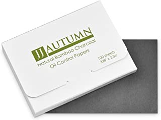 100 Counts - Premium Face Oil Blotting Papers - Easy Carry and Take Out Design - Natural Bamboo Charcoal Oil Absorbing Tis...