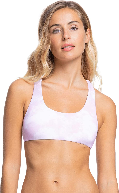 Roxy Women's Standard Sea Waves Reversible Athletic Bikini Top