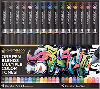 Chameleon Art Products, 15 Chameleon Pens + 10 Chameleon Color Tops (25-Pen Deluxe Set)