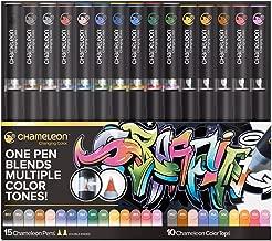 Chameleon Art Products, 15 Chameleon Pens + 10 Chameleon Color Tops (25-Pen Deluxe Set)