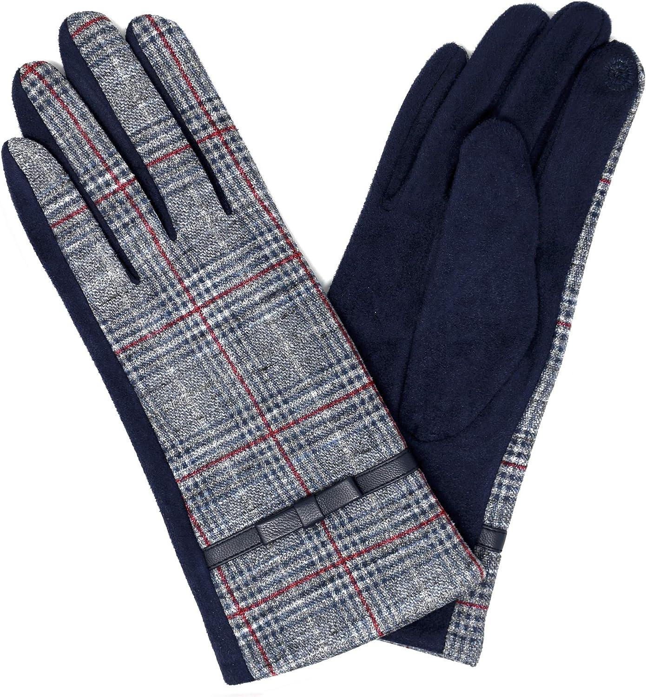 KMystic Womens Pattern Leopard Tartan Plaid Animal Winter Gloves