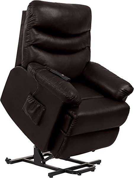 Domesis Wall Hugger Power Recline And Lift Chair In Coffee Brown Renu Leather