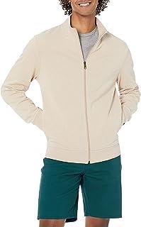 Amazon Essentials Sweat-Shirt léger à col Montant en éponge avec Fermeture Éclair intégrale Homme