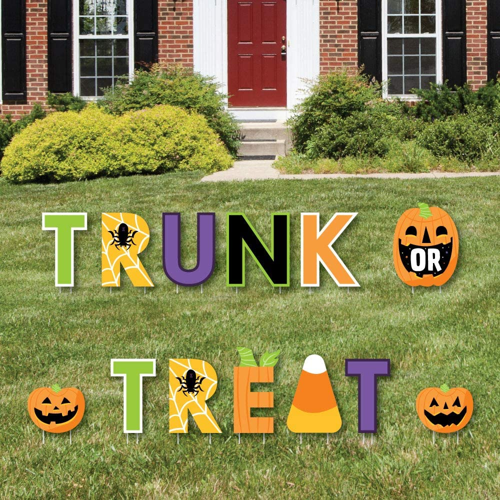 Max 52% OFF Big Dot of Happiness low-pricing Trunk or Treat Lawn Sign Yard Dec - Outdoor