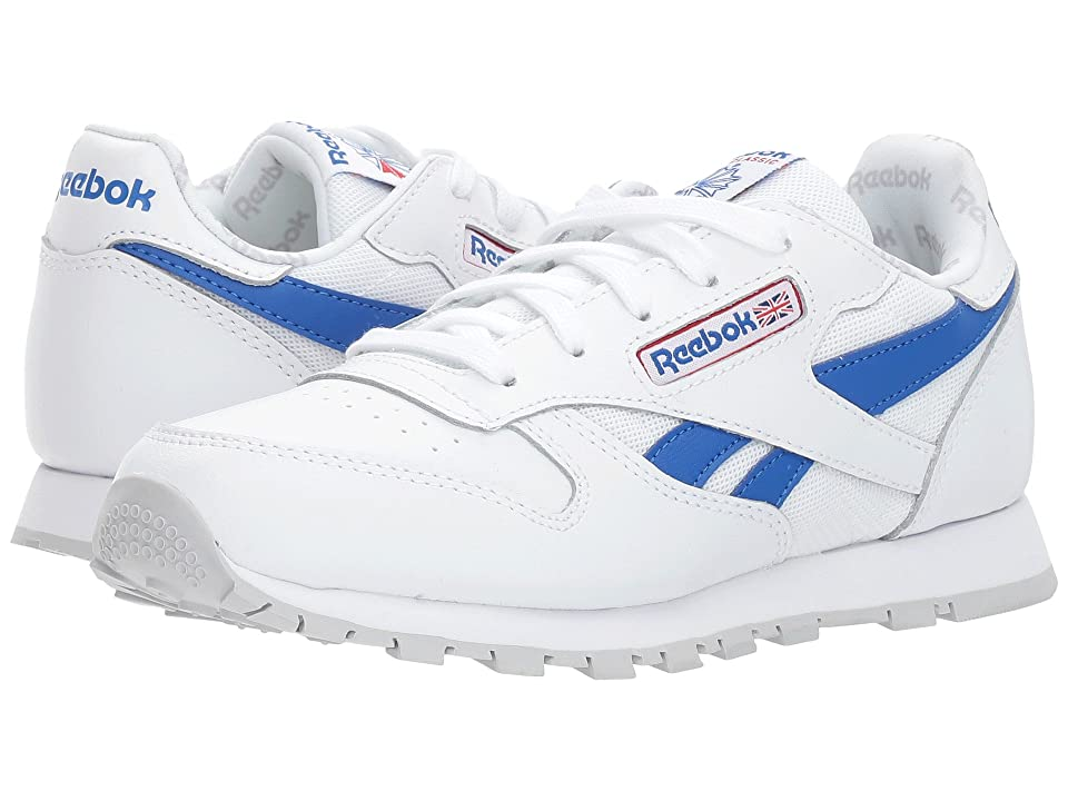 Reebok Kids Classic Leather Switch Out (Little Kid) (White/Vital Blue/Primal Red/Light Solid Grey) Kids Shoes